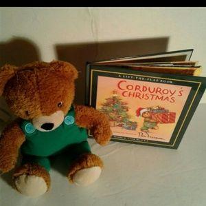 Other - Corduroy christmas book and plush